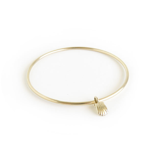 The Shell Bangle in Brass