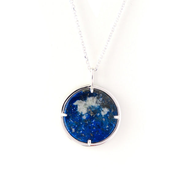 The Cosmos Pendant in Silver with Lapis Lazuli