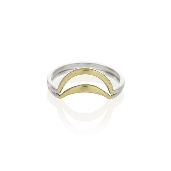 Brass Banana Split Ring