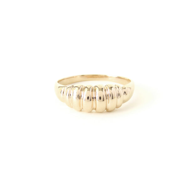 The Ripple Ring Yellow Gold