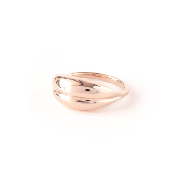 The Fold Ring in Rose Gold