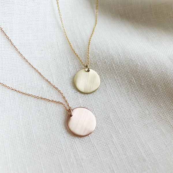 Disc Pendant in Rose Gold