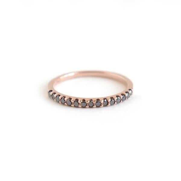 Shared Claw Half Eternity Band