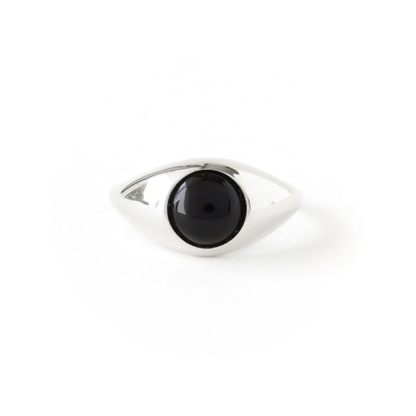 The Iris Ring in Silver with Agate