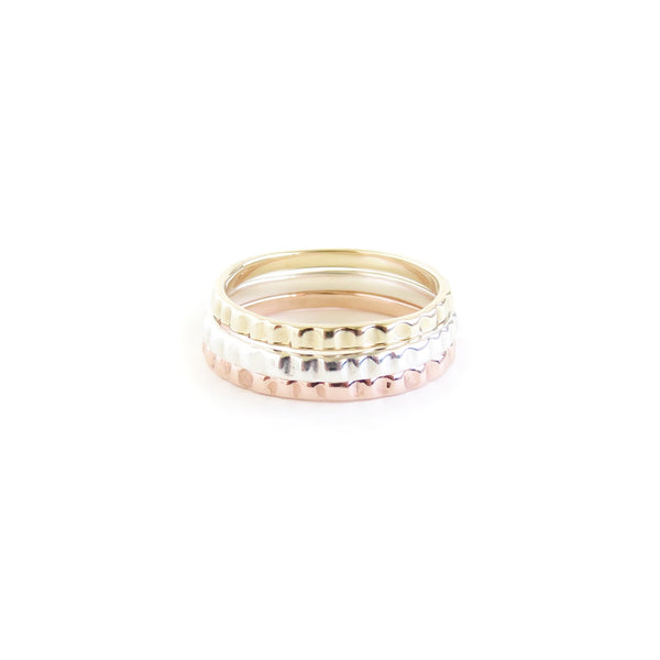 The Limpet Rings in Yellow Gold, Rose Gold and Silver
