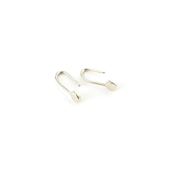 Dot Earrings in White Gold