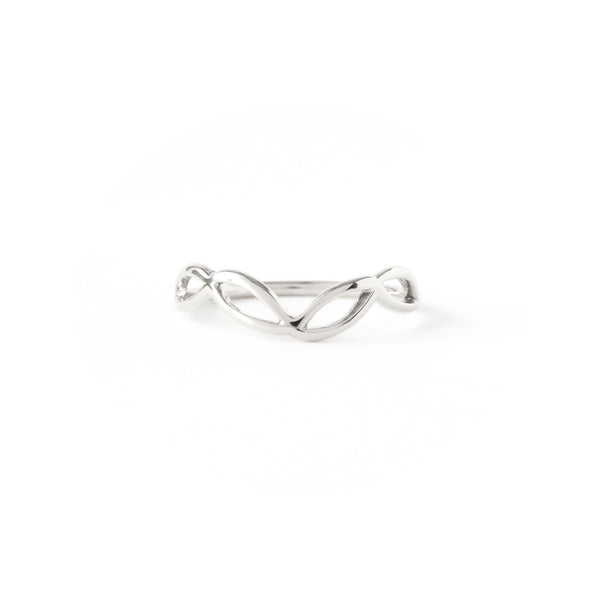 The Helix Ring in Silver