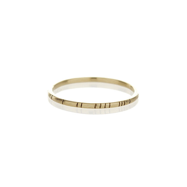 Gold Striped Ring