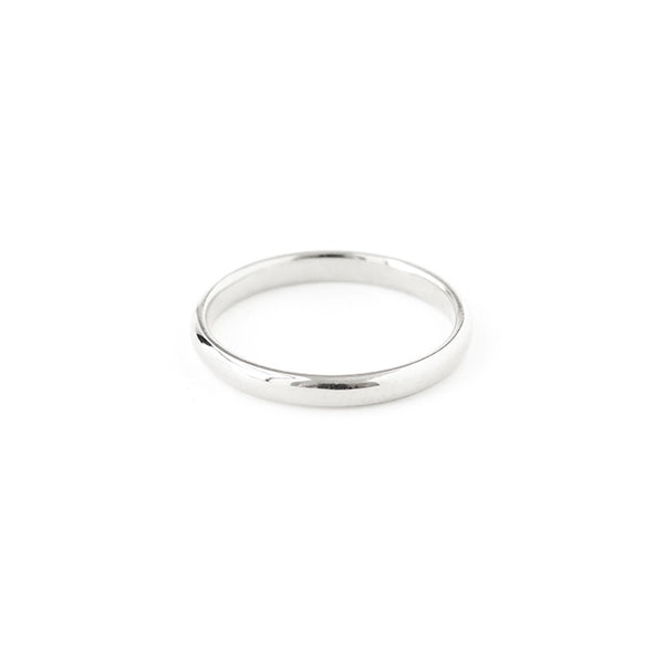 Half Round Band in Silver