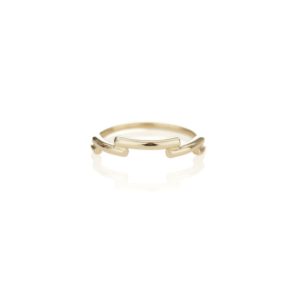 Yellow Gold Shashe Ring