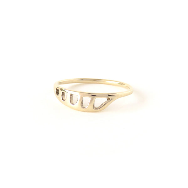 The Terrain Ring in Yellow Gold