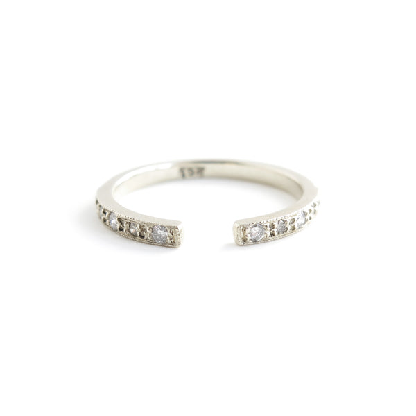 Diamond Gap Ring in White Gold