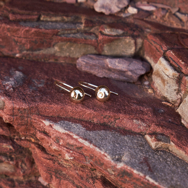 The Atom Earrings in Yellow Gold