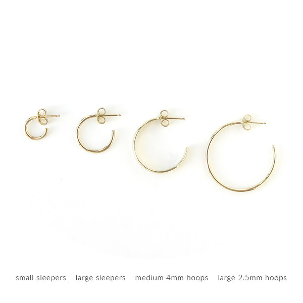 Large Hoop Earrings in Silver