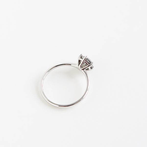 Greyish Yellow Salt and Pepper Diamond Ring