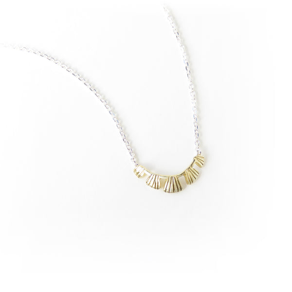 The Coral Pendant in Brass