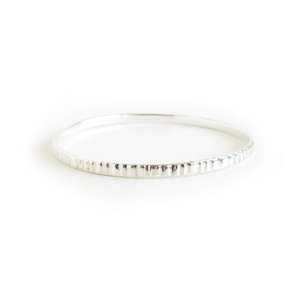 The Limpet Bangle in Silver