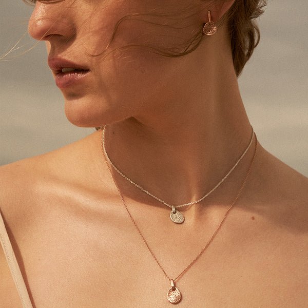 The Shore Pendant in Rose Gold