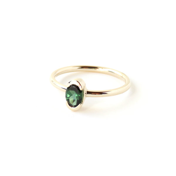 Channel Set Tourmaline Ring