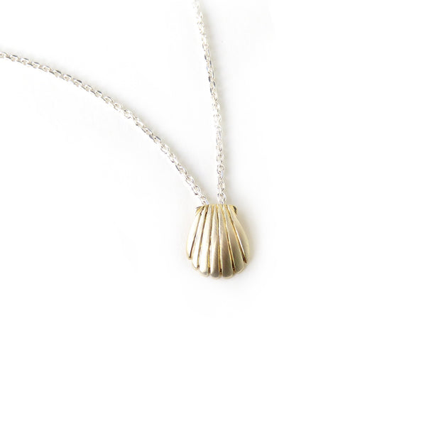 The Shell Pendant in Brass