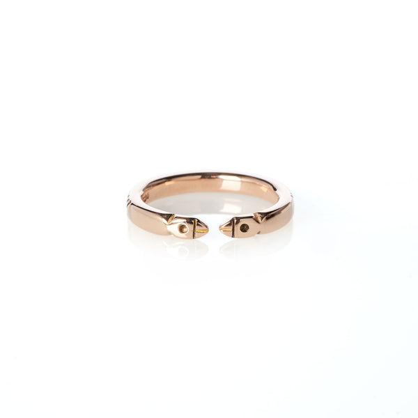 Life of Pi Bird Ring in Rose Gold