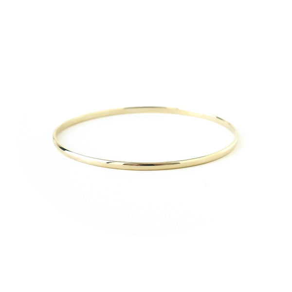 Half Round Bangle in Yellow Gold