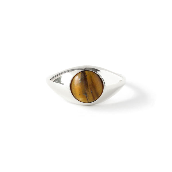 The Iris Ring in Silver with Tigers Eye