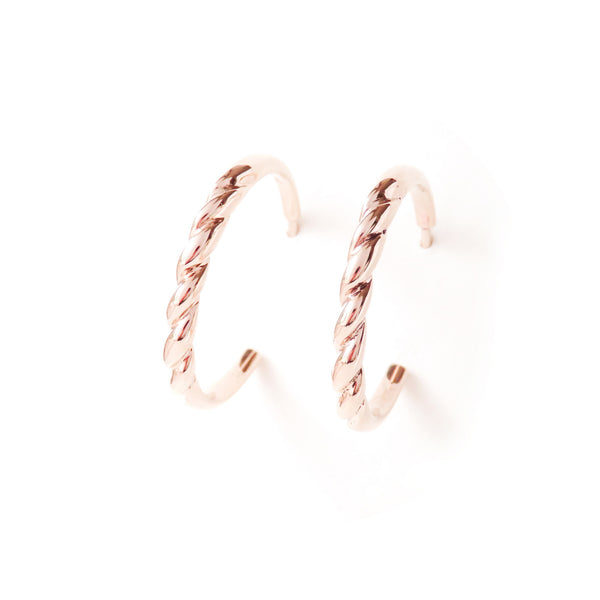 The Contour Earrings in Rose Gold