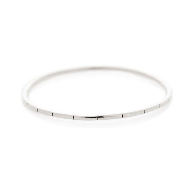 Striped Silver Bangle