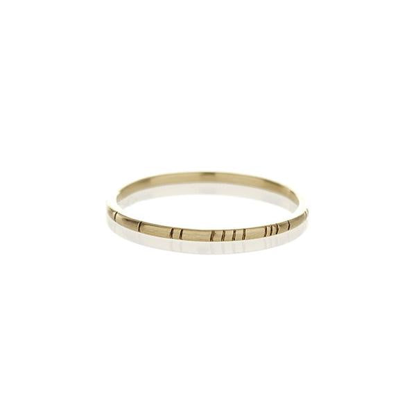 Brass Striped Ring