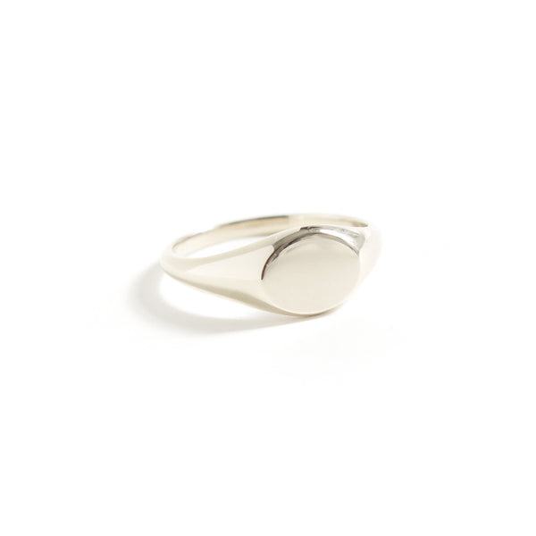 Signet Ring in White Gold