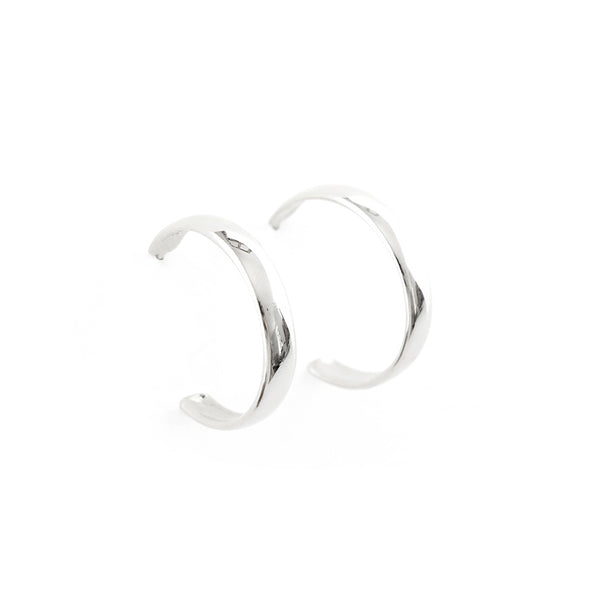 Medium Hoop Earrings in Silver