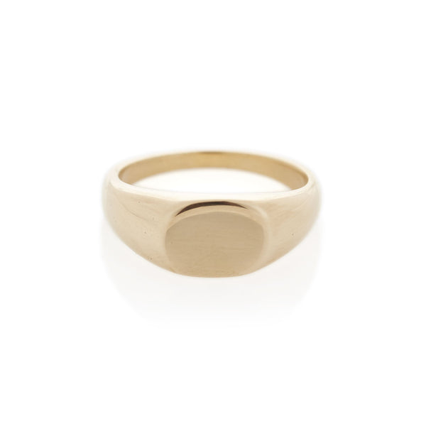 Yellow Gold Oval Signet Ring