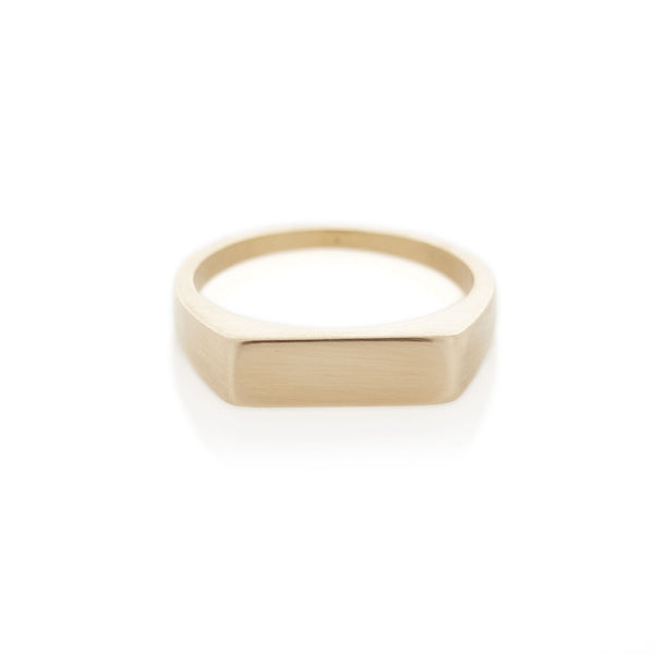 Yellow Gold Rectangle Signet Ring