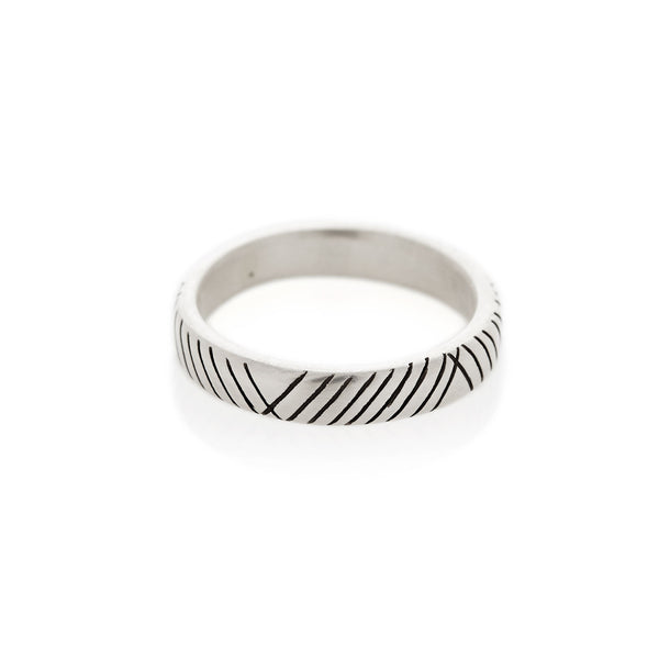 Diagonal Striped Men's Band