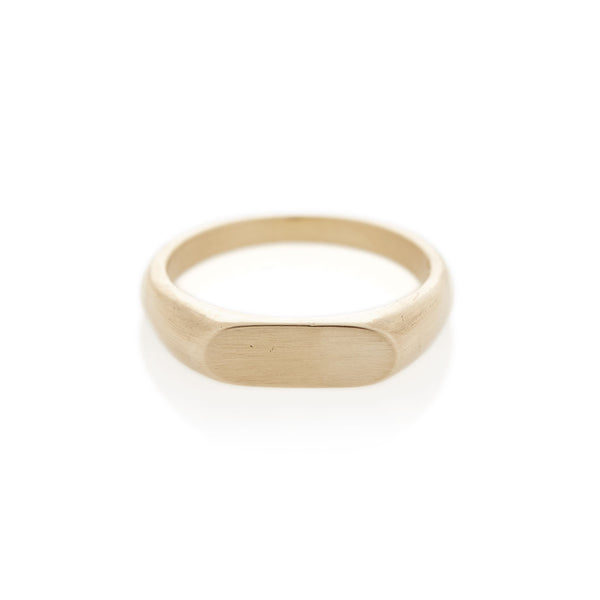 Yellow Gold Landscape Signet Ring