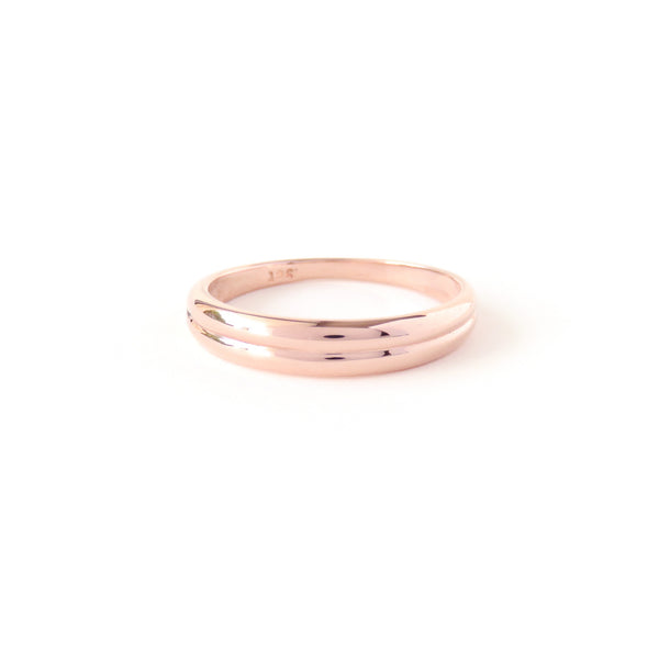 The Horizon Ring in Rose Gold