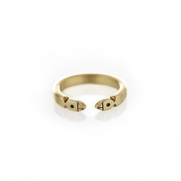 Life of Pi Bird Ring in Brass
