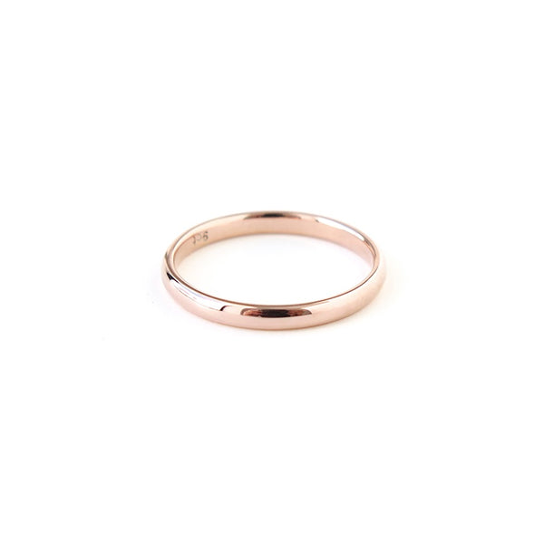 Half Round Band in Rose Gold