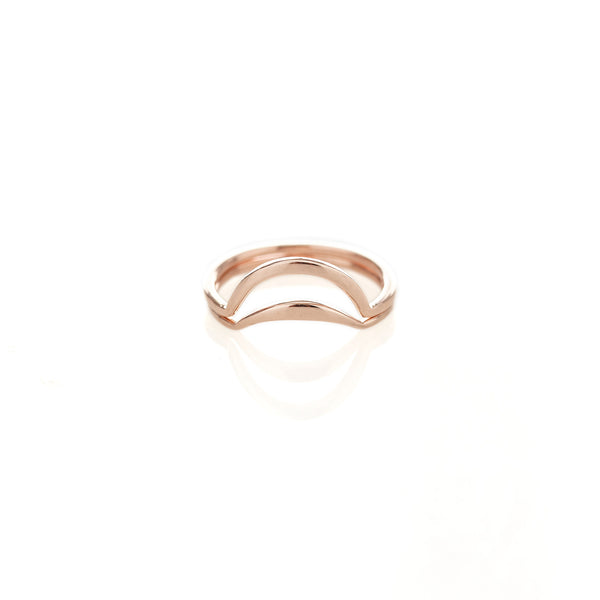 Rose Gold Banana Split Ring