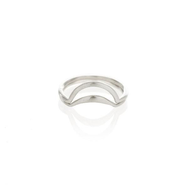 Silver Banana Split Ring