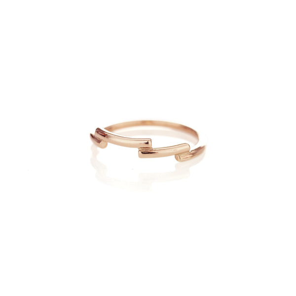 Rose Gold Shashe Ring