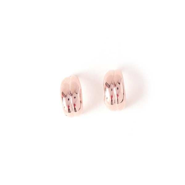 The Fold Earrings in Rose Gold