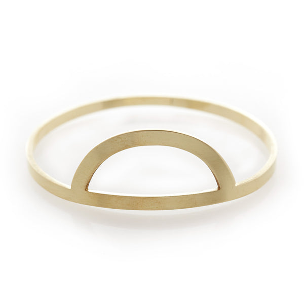 Hollow Half Sun Bangle