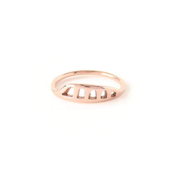 The Terrain Ring in Rose Gold