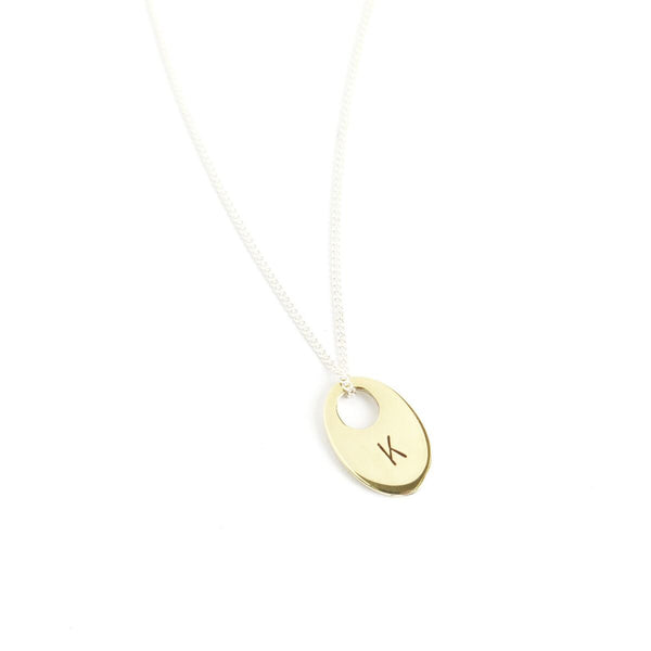 Me, Myself and I Initial Pendant in Yellow Gold