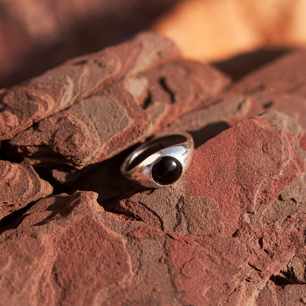 The Iris Ring in Silver with Jasper