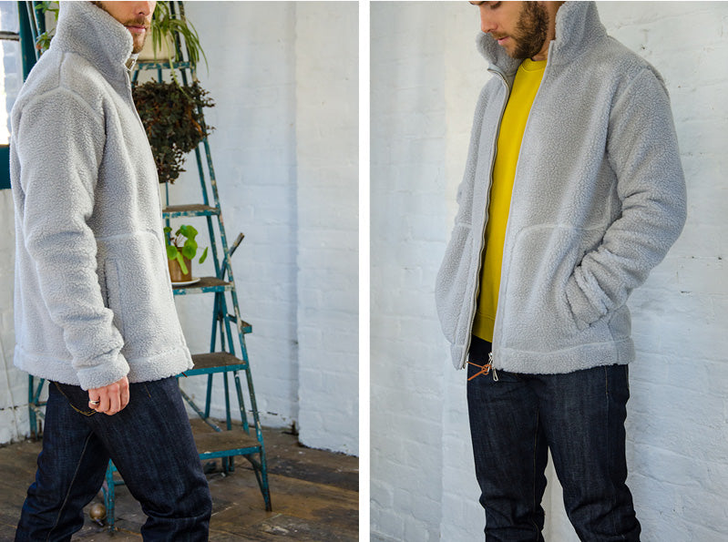 8dc1ec82ac Albam Fleece Zip Through- Quarry, Folk Rivet Sweat- Sulphur, Albam Slim Fit  Jean- Indigo,
