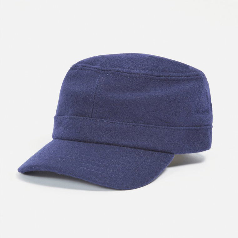 UNIVERSAL WORKS FIELD CAP - MELTON NAVY