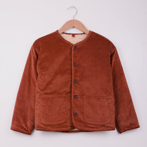 SIDELINE LEO JACKET - BRICK/NATURAL